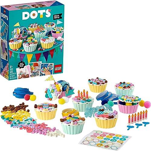 LEGO 41926 Dots Kitcréatifdefête avec Cupcakes, Coffret Cadeau d'anniversaire Bricolage, activités artistiques et ...
