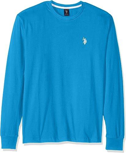 U.S. Polo Assn. Hommes's manche longue Crew Neck T-Shirt, Teal bleu, grand