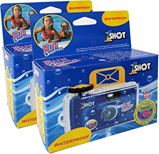Disposable Single Use 35mm Film Camera One Shot Waterproof Fun Shooter 400 ASA/ISO 27 Exposures 2-Pack