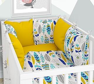 Six coussins en velours pour lit b/éb/é 70 x 140 cm Tour de lit