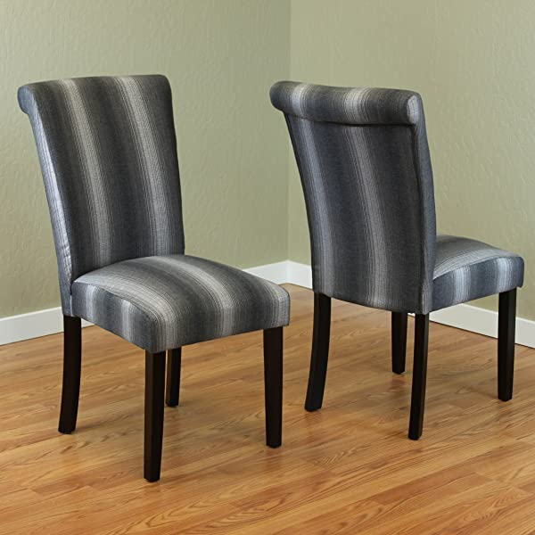 Monsoon Pacific 222286 Voyage Dining Chair Black Stripe
