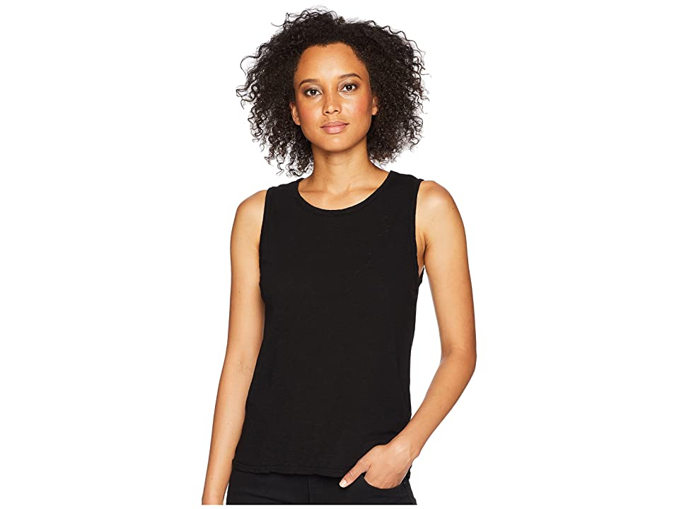 Three Dots Eco Knit Tank Top (Black) Women
