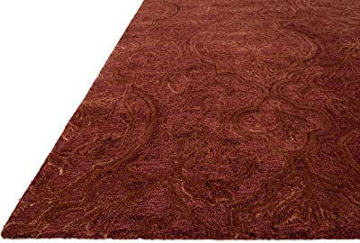 Loloi Rugs Filigree Collection Traditional Area Rug, Rust, 5' x 7'-6""
