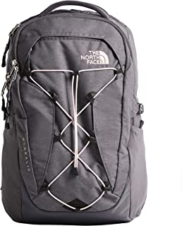 The North Face Women's Borealis Backpack, Rabbit Grey Light Heather/Pink Salt