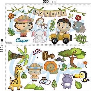 Clapper Autocollant en vinyle pour enfant Safari Animaux de la jungle Animaux sauvages de la jungle Vinyle Stickers décora...