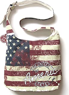 Robin Ruth Canvas Bags & Wallets USA Flag Collection (Canvas Sling Bag USA Flag)