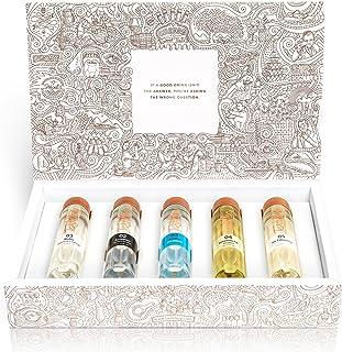 """Tastillery Gin Tasting Probierset """"Gin Weltreise"""" in Geschenkbox 5 x 50ml"""