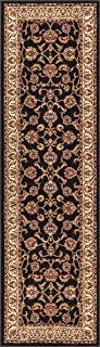 Well Woven Barclay Sarouk Black Traditional Area Rug 2'3