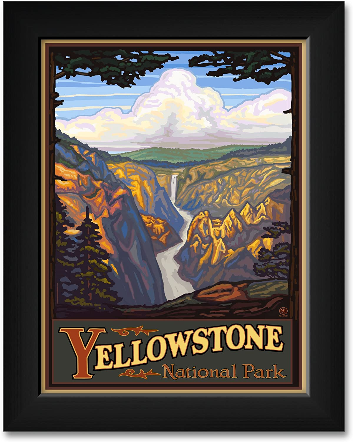 2021 new Inexpensive Yellowstone National Park Falls Frame Professionally
