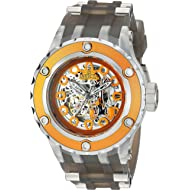 Invicta Men's Character Collection Stainless Steel Automatic-self-Wind Watch with Silicone Strap,...