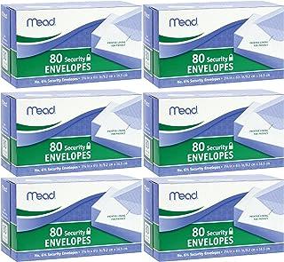 Mead # 63/4Sobres de seguridad, 80Count (75212), Blanco (Pack of 6)