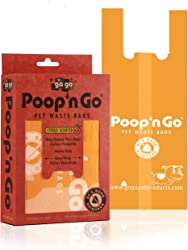 GoGo Pet Products 100-Pack Poop n Go Pet Waste Bags with Handles Scented Fresh