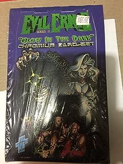 EVIL ERNIE SERIES 2 GLOW IN THE DARK LADY DEATH 100 CHROMIUM TRADING CARD SET