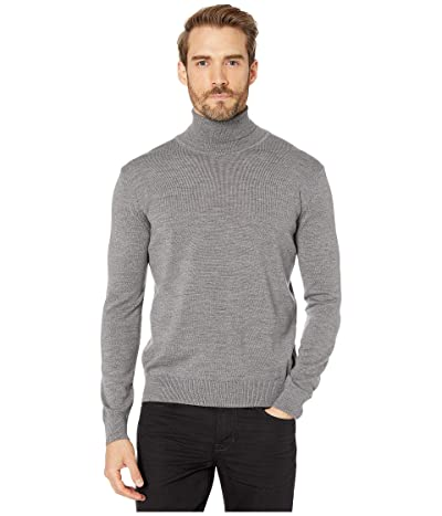 BUGATCHI Bruges Sweater Long Sleeve Turtleneck (Platinum) Men