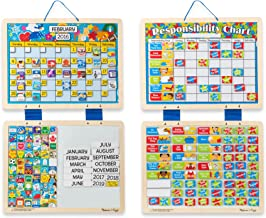 Melissa & Doug Kids' Magnetic Calendar and Responsibility Chart Set With 120+ Magnets to Track Schedules, Tasks, and Behaviors