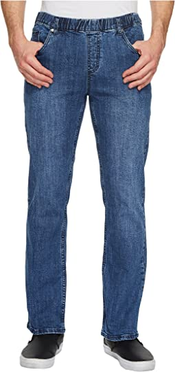 Imperial Blue Elastic Waist Jeans