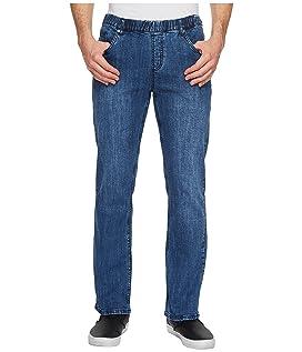 Imperial Blue Elastic Waist Jeans