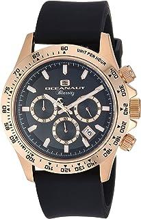 ساعة اوشينت باريتز للرجال من ستانلس ستيل كوارتز مع حزام مطاطي، لون أسود، 22 (OC6119R)