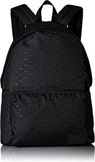 Armani Exchange Men's All Over Micro Print Logo Backpack, nero/black, UNI