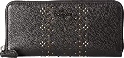 COACH - Bandana Rivets Slim Accordion Zip