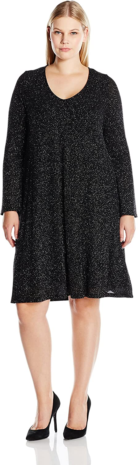 Karen Kane Womens Plus Size Diamond Dust Taylor Dress Dress