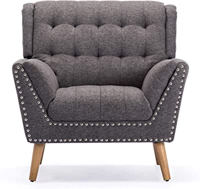 Amazon Com Modway Empress Mid Century Modern Upholstered Fabric Armchair In Azure Furniture Decor