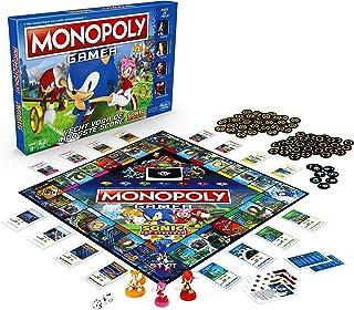 لعبة مونوبولي نسخة سونيك هيدج هوج، العاب الطاولة للاطفال للسن من 8 فاكثر؛ العاب طاولة بموضوع لعبة الفيديو سونيك