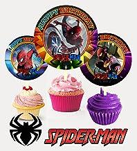 Crafting Mania LLC. 12 Spiderman Birthday Inspired Party Picks, Cupcake Picks, Cupcake Toppers #1