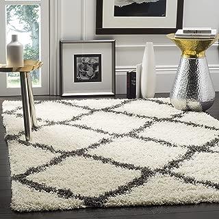 Safavieh Dallas Shag Collection SGD257H Ivory and Dark Grey Area Rug (8' x 10')