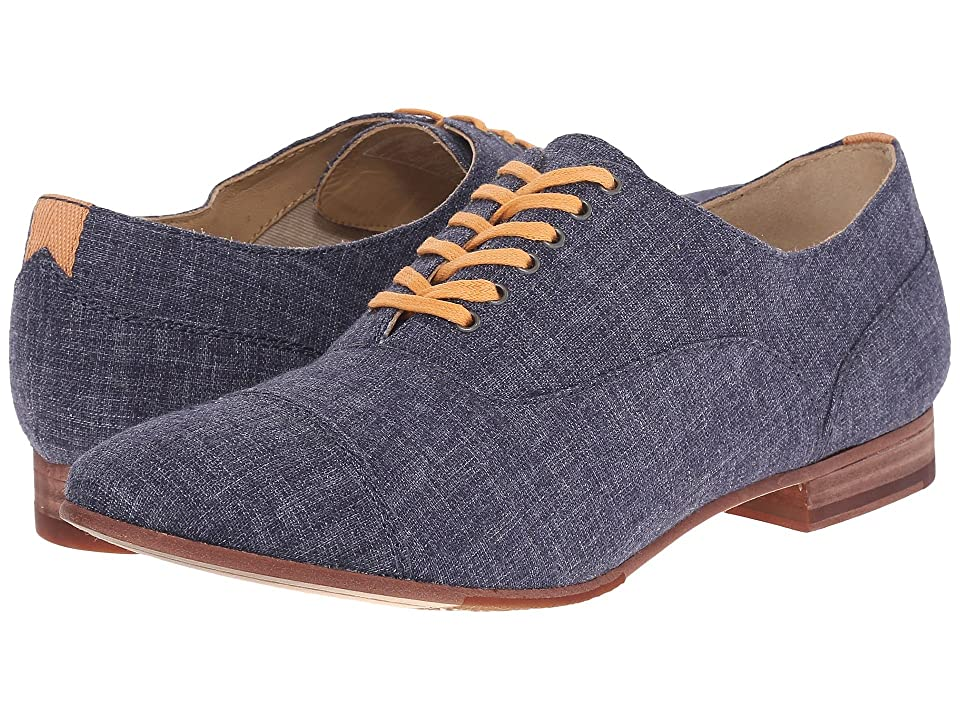 Sebago Hutton Cap Toe (Navy Linen) Women