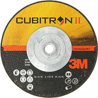 3M Cubitron II Depressed Center Grinding Wheel T27 Quick Change, Ceramic Grain, 6