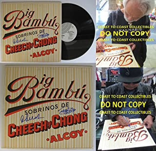 Cheech & Chong signed autographed Big Bambu Album with paper, Vinyl Record, COA Proof. STAR