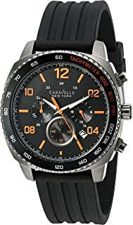 Caravelle New York Men's Quartz Stainless Steel Dress Watch (Model: 45B141)