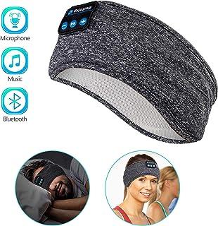 LUFA Unisex Sports Headband Wireless Bluetooth Headset Stereo Headphones Sleep Headpiece with Mic