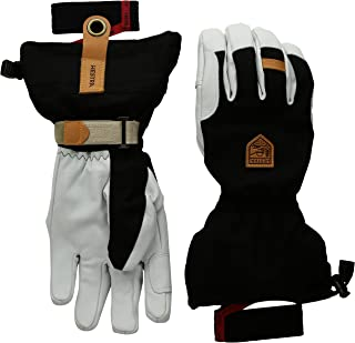 Ski Gloves: Army Leather Patrol Winter Gloves with Removal Liner