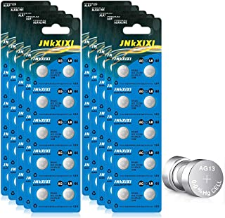 100 Pack LR44 AG13 357 Battery 1.5V SR44 A76 GP76 Lr 44b L1154c 303 Button Coin Cell Batteries JNKXIXI