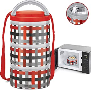 MILTON Insulated Lunch Bento Box Microwave Safe Stainless Steel thermos for Kids/Adults..