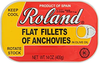 Roland Foods Anchovy Fillets in Olive Oil, 14 Ounce