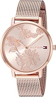 Tommy Hilfiger Women's Quartz Watch with Strap, Rose Gold, 15.6 (Model: 1781922)