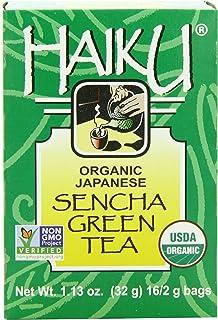 Haiku Organic Tea, Japanese Sencha Green, 16 Teabags (Pack of 6)
