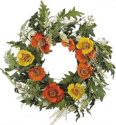 Transpac Faux Poppy Wreath