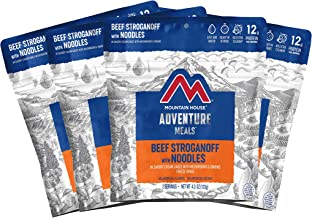 Mountain House Beef Stroganoff with Noodles   Freeze Dried Backpacking & Camping Food   4-Pack