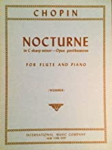 Chopin Nocturne in C sharp minor -Opus posthumous for Flute and Piano