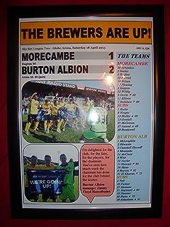 Morecambe 1 Burton Albion 2 - Burton promovida - 2015 - impresión enmarcada