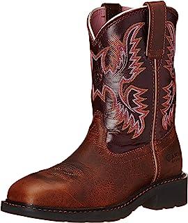Ariat Women's Krista Pull-on Steel Toe Western Cowboy Boot