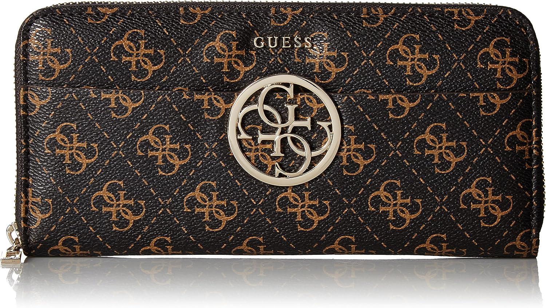 GUESS Kamryn Q safety Genuine Free Shipping Logo Wallet Large Zip Around