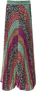 Women's Katz Sunburst Pleated Maxi Skirt Multi Coloured