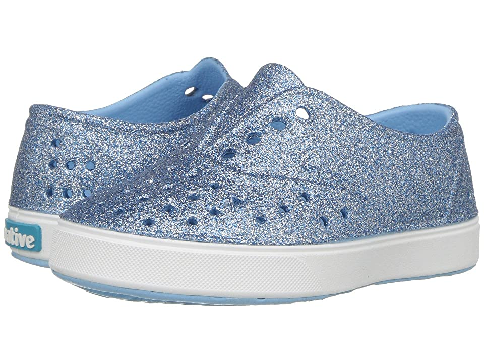Native Kids Shoes Miller Bling (Toddler/Little Kid) (Sky Bling/Shell White) Girl