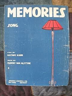 Memories Song (Vintage sheet music)