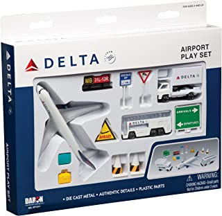 Delta Airlines 12 Piece Playset (Color of the content may Vary)